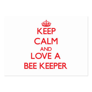 Keep Calm and Love a Bee Keeper Business Card Templates