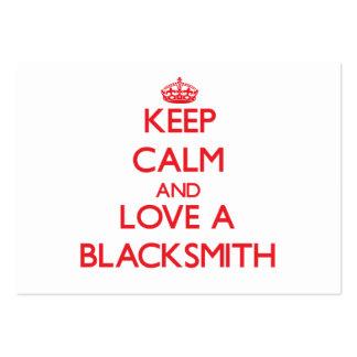 Keep Calm and Love a Blacksmith Business Card