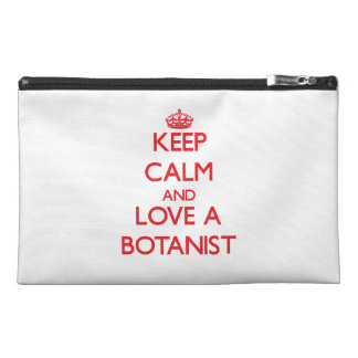 Keep Calm and Love a Botanist Travel Accessories Bags