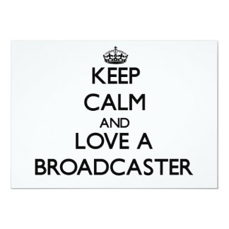 Keep Calm and Love a Broadcaster Personalized Announcements