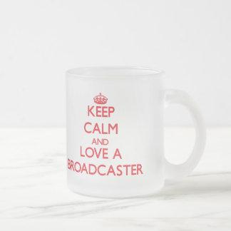 Keep Calm and Love a Broadcaster Coffee Mug