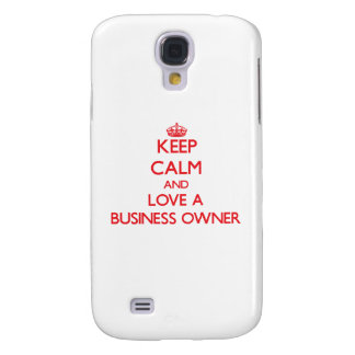 Keep Calm and Love a Business Owner HTC Vivid Covers