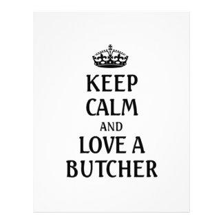Keep calm and love a Butcher Letterhead