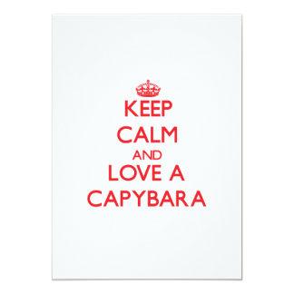 Keep calm and Love a Capybara 5x7 Paper Invitation Card