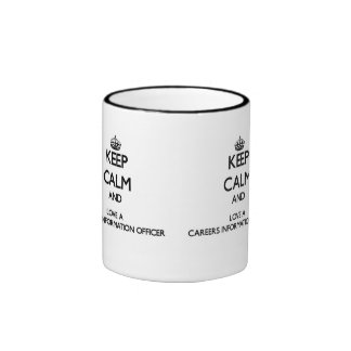 Keep Calm and Love a Careers Information Officer Ringer Coffee Mug