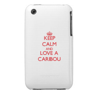 Keep calm and Love a Caribou iPhone 3 Covers