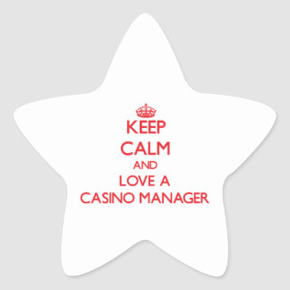 Keep Calm and Love a Casino Manager Sticker