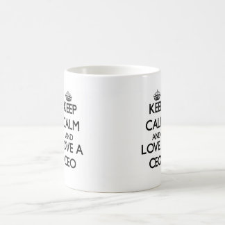 Keep Calm and Love a Ceo Classic White Coffee Mug