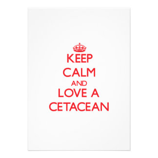 Keep calm and Love a Cetacean Personalized Invite