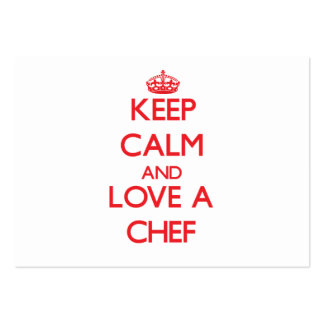 Keep Calm and Love a Chef Business Cards