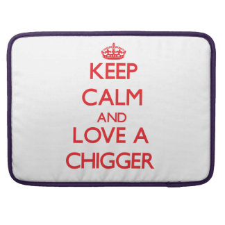 Keep calm and Love a Chigger Sleeves For MacBook Pro