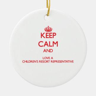 Keep Calm and Love a Children's Resort Representat Christmas Ornaments