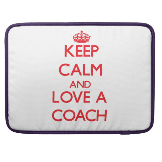 Keep Calm and Love a Coach Sleeves For MacBooks