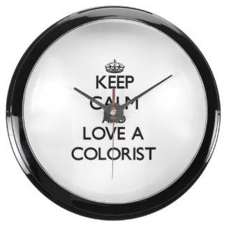 Keep Calm and Love a Colorist Fish Tank Clocks