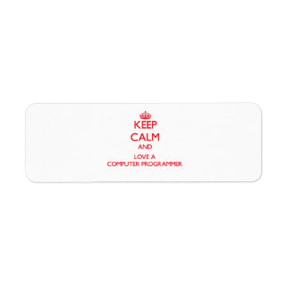 Keep Calm and Love a Computer Programmer Labels