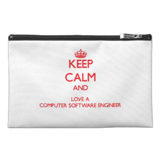 Keep Calm and Love a Computer Software Engineer Travel Accessories Bag