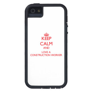 Keep Calm and Love a Construction Worker iPhone 5 Cover