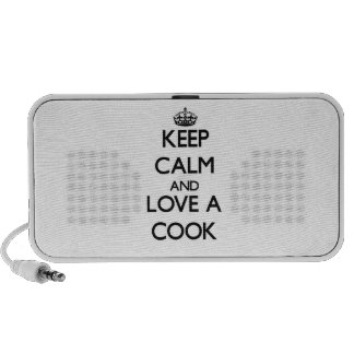 Keep Calm and Love a Cook Notebook Speakers
