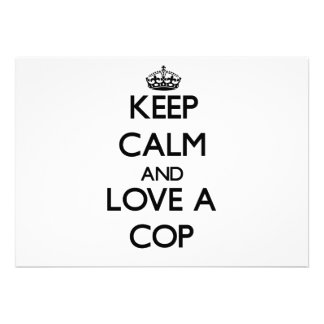 Keep Calm and Love a Cop Personalized Invites