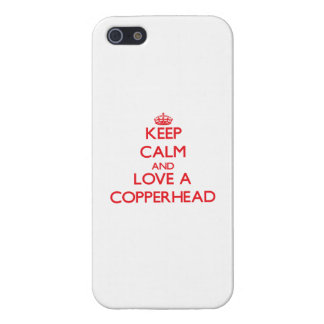 Keep calm and Love a Copperhead iPhone 5/5S Case