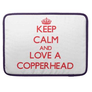Keep calm and Love a Copperhead MacBook Pro Sleeve