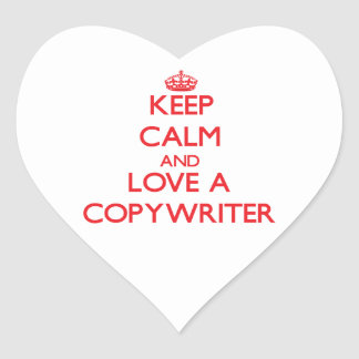 Keep Calm and Love a Copywriter Heart Sticker