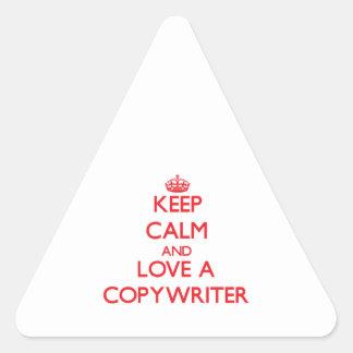 Keep Calm and Love a Copywriter Sticker
