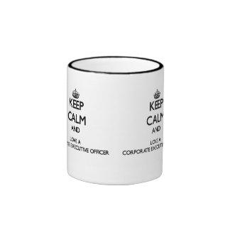 Keep Calm and Love a Corporate Executive Officer Ringer Coffee Mug