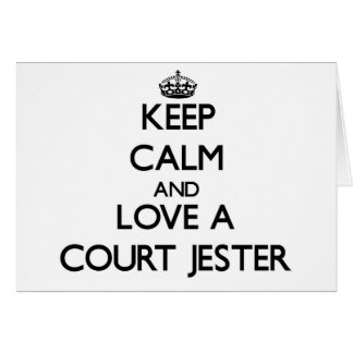 Keep Calm and Love a Court Jester Greeting Cards