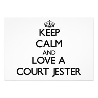 Keep Calm and Love a Court Jester Personalized Invitations
