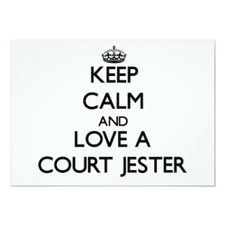 Keep Calm and Love a Court Jester 5x7 Paper Invitation Card