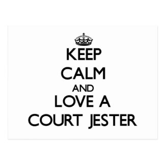 Keep Calm and Love a Court Jester Postcard