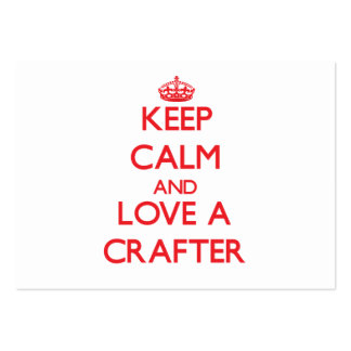 Keep Calm and Love a Crafter Large Business Cards (Pack Of 100)
