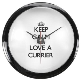 Keep Calm and Love a Currier Aqua Clock