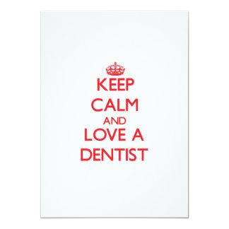 "Keep Calm and Love a Dentist 5"" X 7"" Invitation Card"