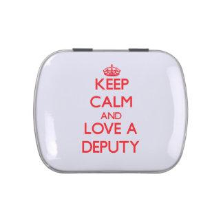 Keep Calm and Love a Deputy Candy Tin