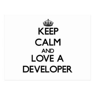 Keep Calm and Love a Developer Postcards