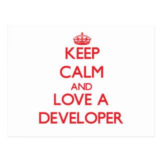 Keep Calm and Love a Developer Post Card