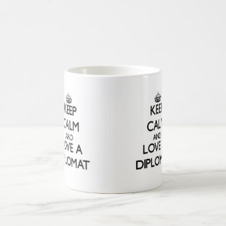 Keep Calm and Love a Diplomat Classic White Coffee Mug