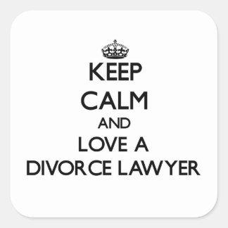 Keep Calm and Love a Divorce Lawyer Sticker