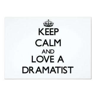Keep Calm and Love a Dramatist Custom Invites