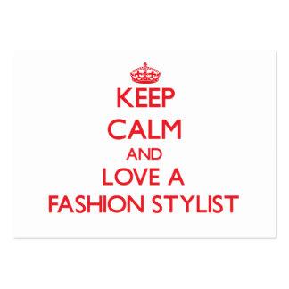 Keep Calm and Love a Fashion Stylist Business Card Template
