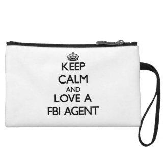 Keep Calm and Love a Fbi Agent Wristlets
