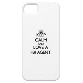 Keep Calm and Love a Fbi Agent iPhone 5 Covers