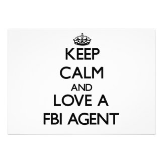 Keep Calm and Love a Fbi Agent Personalized Invitation