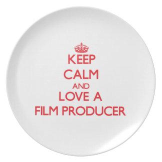 Keep Calm and Love a Film Producer Plates