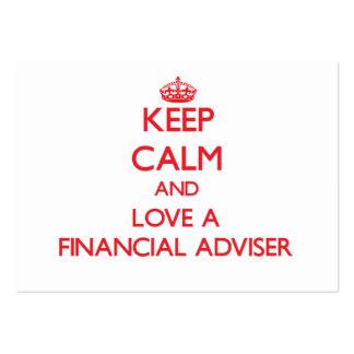 Keep Calm and Love a Financial Adviser Business Card Templates