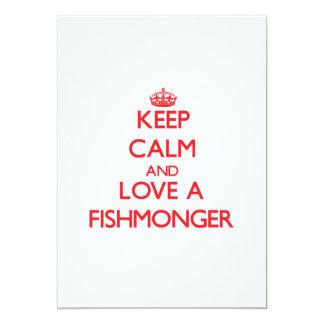 Keep Calm and Love a Fishmonger 5x7 Paper Invitation Card