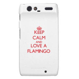 Keep calm and Love a Flamingo Motorola Droid RAZR Cover