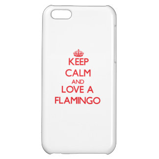 Keep calm and Love a Flamingo iPhone 5C Case